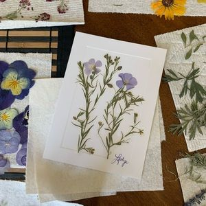 Homemade Pressed Dried Flower Cards